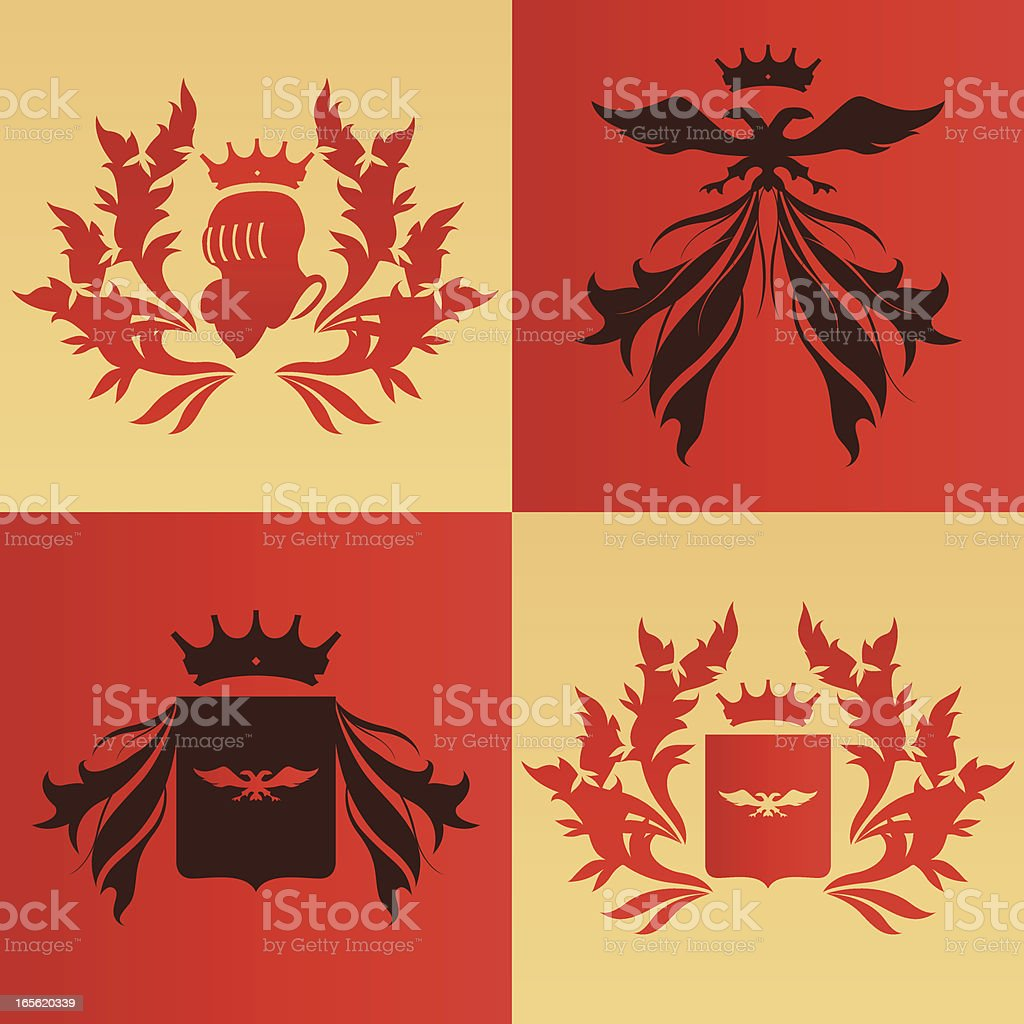 coat of arms set royalty-free stock vector art
