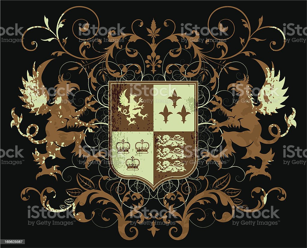 Coat of Arms vector art illustration