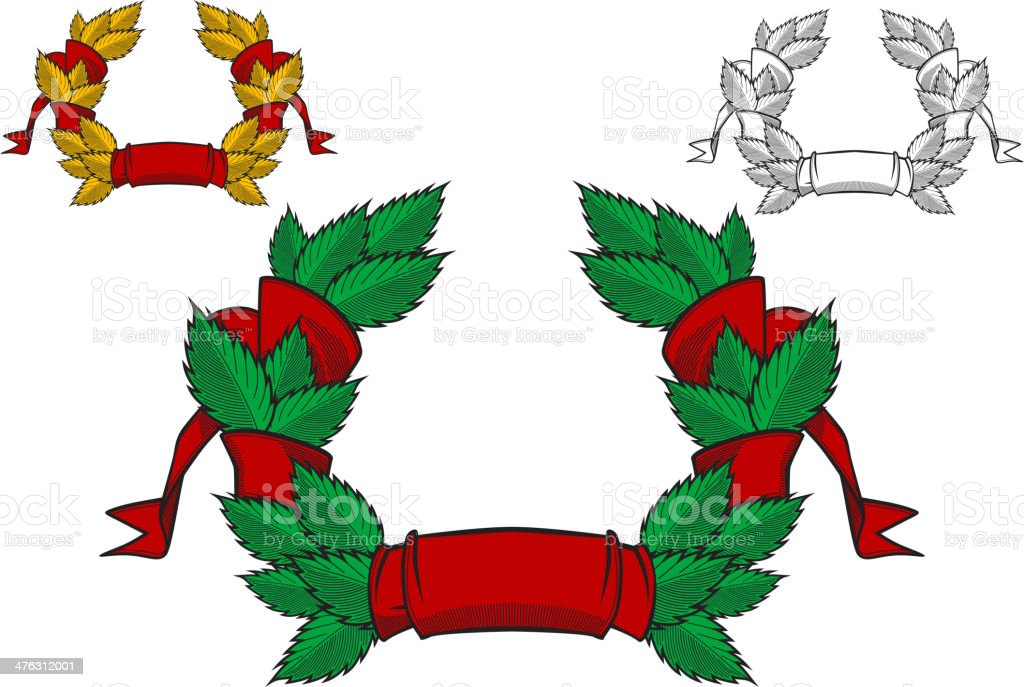 Coat of arms with ribbons royalty-free stock vector art