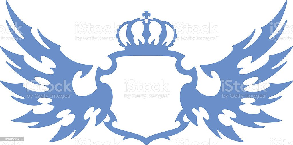 Coat of arms with wings royalty-free stock vector art