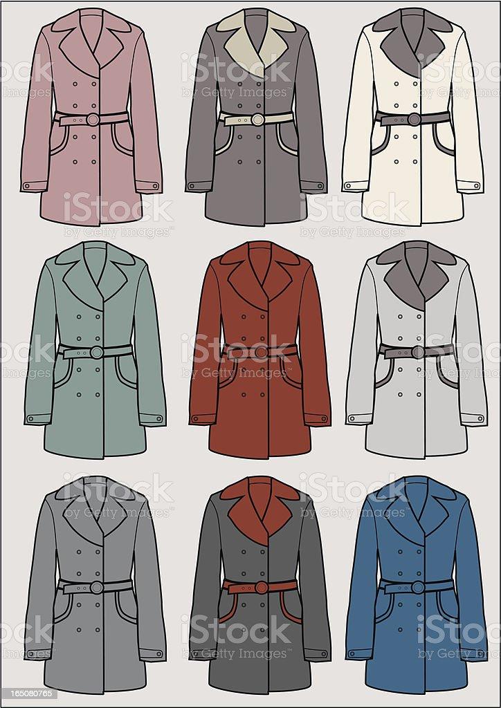 coat royalty-free stock vector art