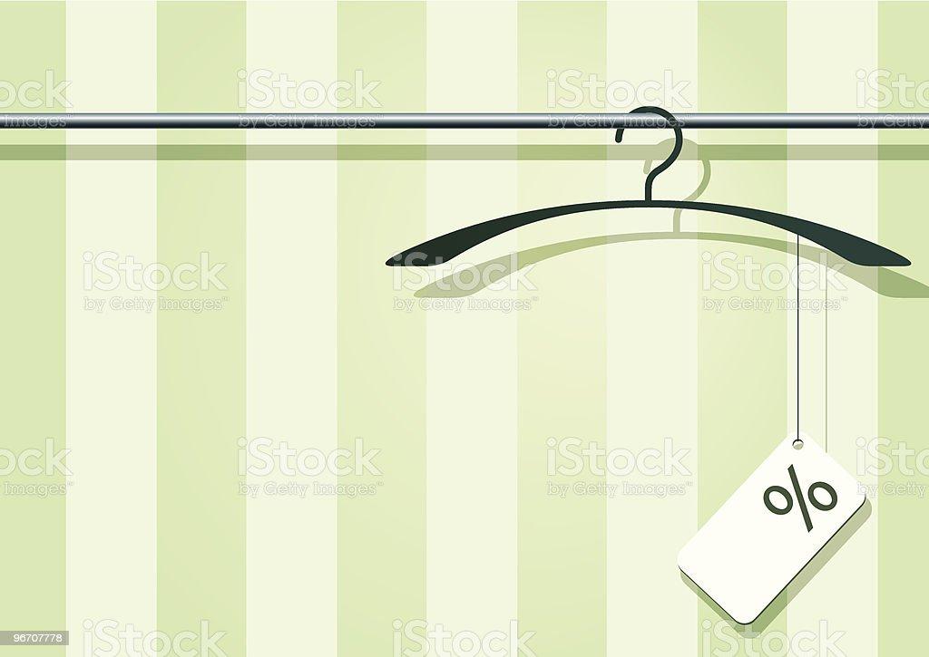 coat-hanger with label royalty-free stock vector art