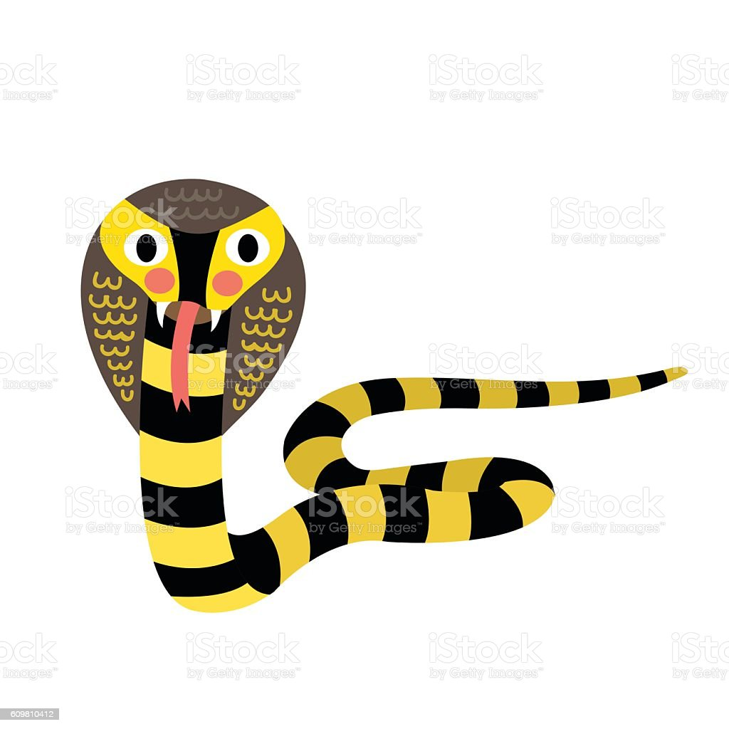 Cobra animal cartoon character vector illustration. vector art illustration