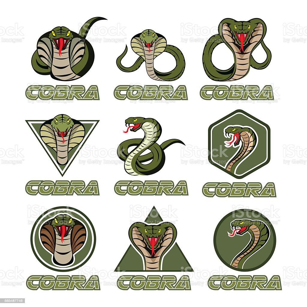 Cobra logos vector art illustration