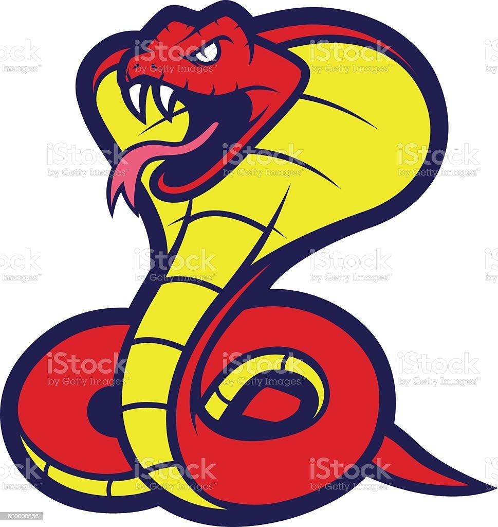 Cobra snake mascot vector art illustration