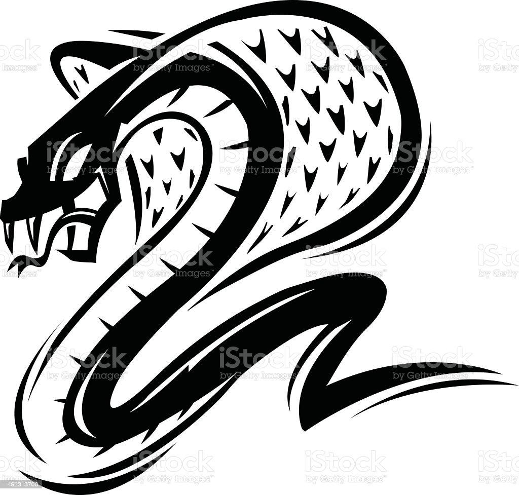 Cobra vector art illustration