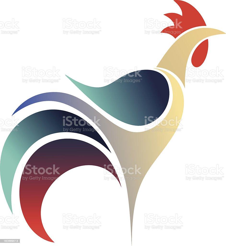 Cock vector art illustration