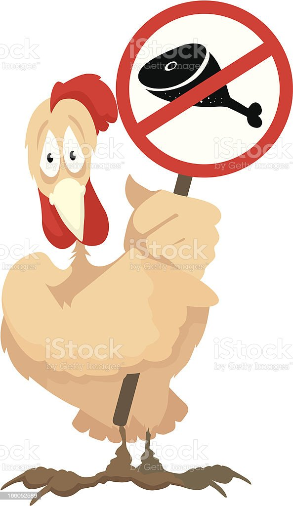 cock with a banner royalty-free stock vector art