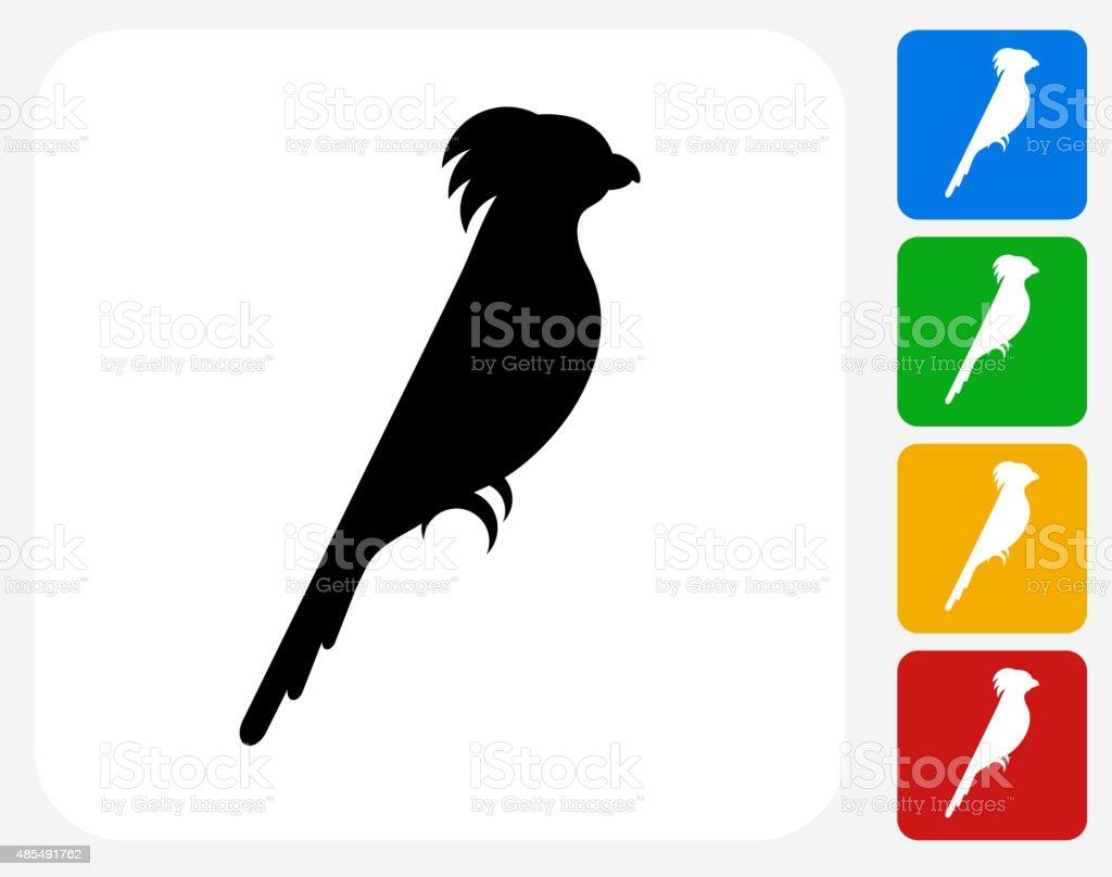 Cockatoo Icon Flat Graphic Design vector art illustration