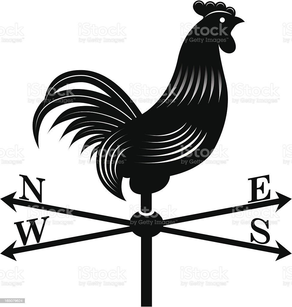 Cockerel windvane vector art illustration