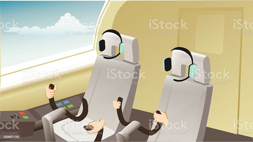 cockpit vector art illustration