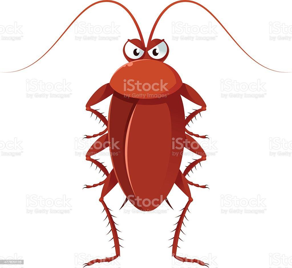 Cockroach vector art illustration