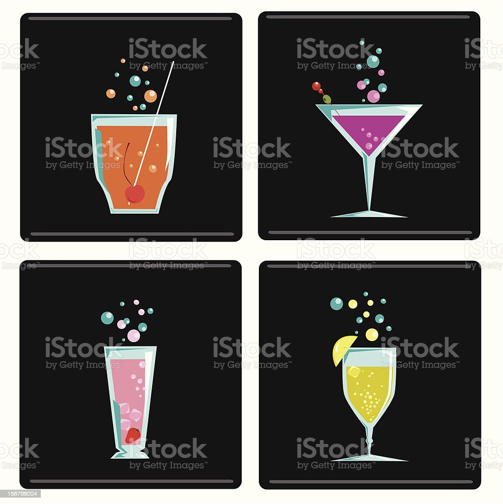 cocktail 4 color royalty-free stock vector art