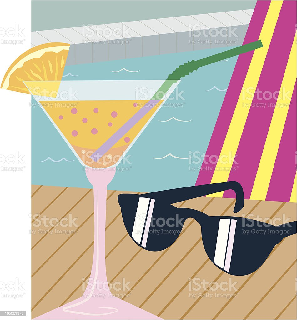 Cocktail and Shades royalty-free stock vector art