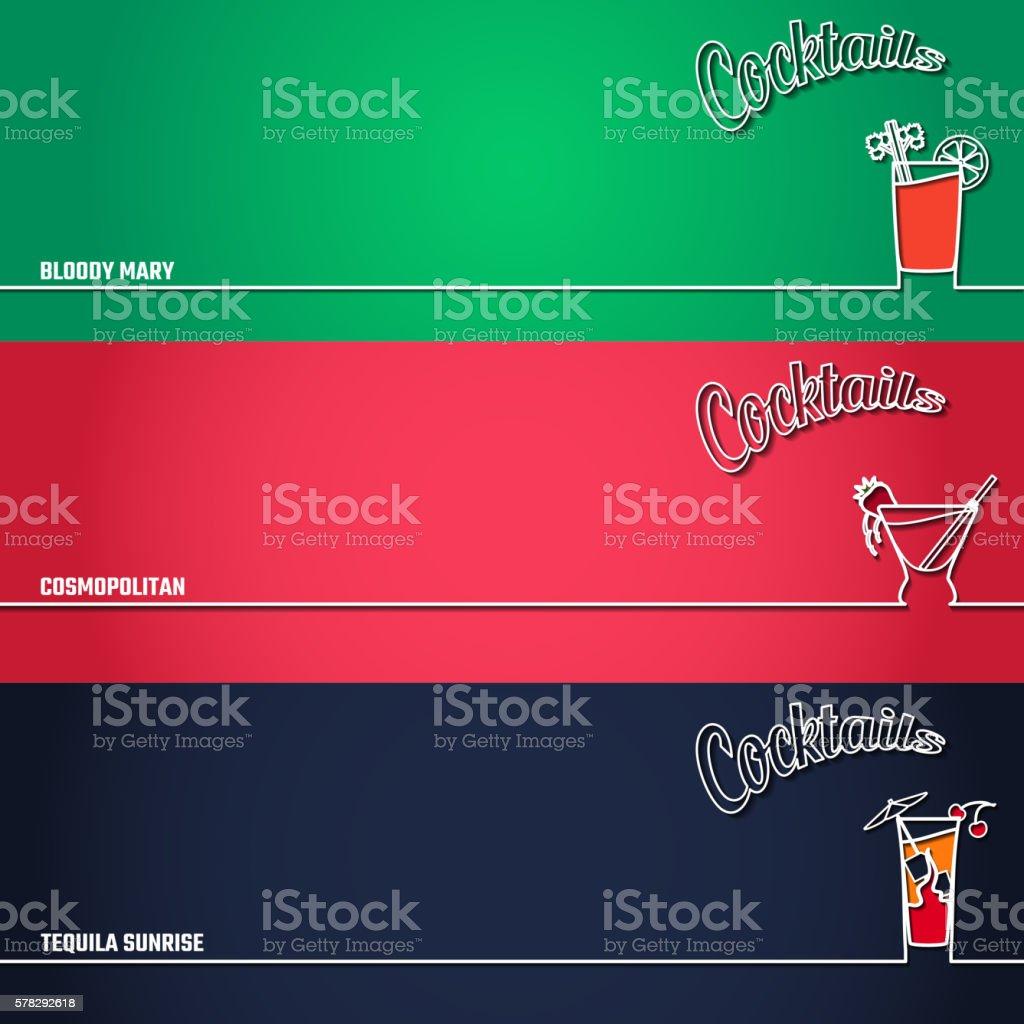 Cocktail Background Outline 1 vector art illustration