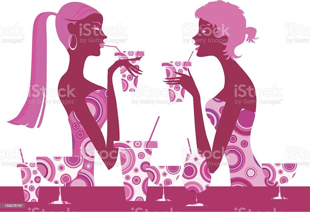 Cocktail bar royalty-free stock vector art