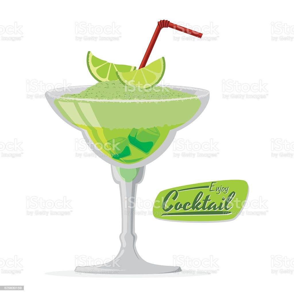cocktail design vector art illustration