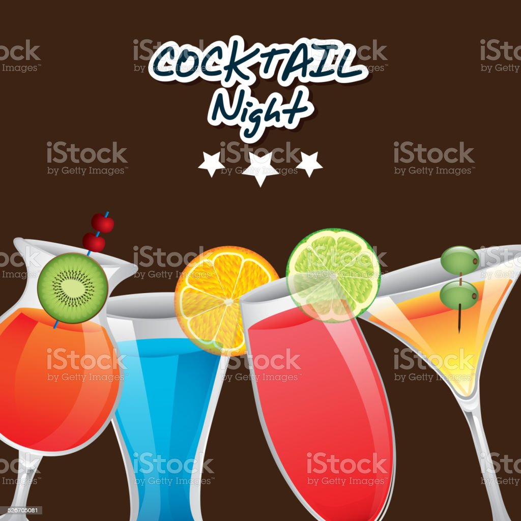 cocktail design vector art illustration