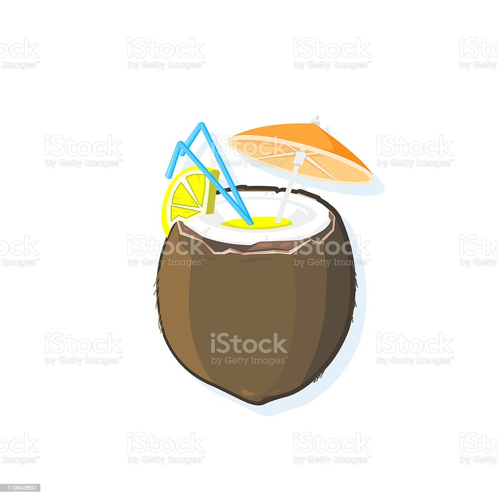Cocktail Drink Icon vector art illustration