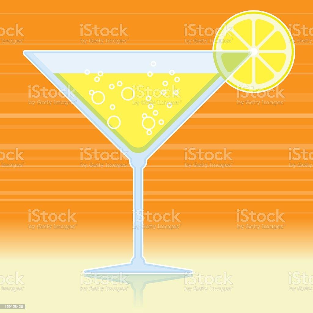 cocktail drink vector art illustration