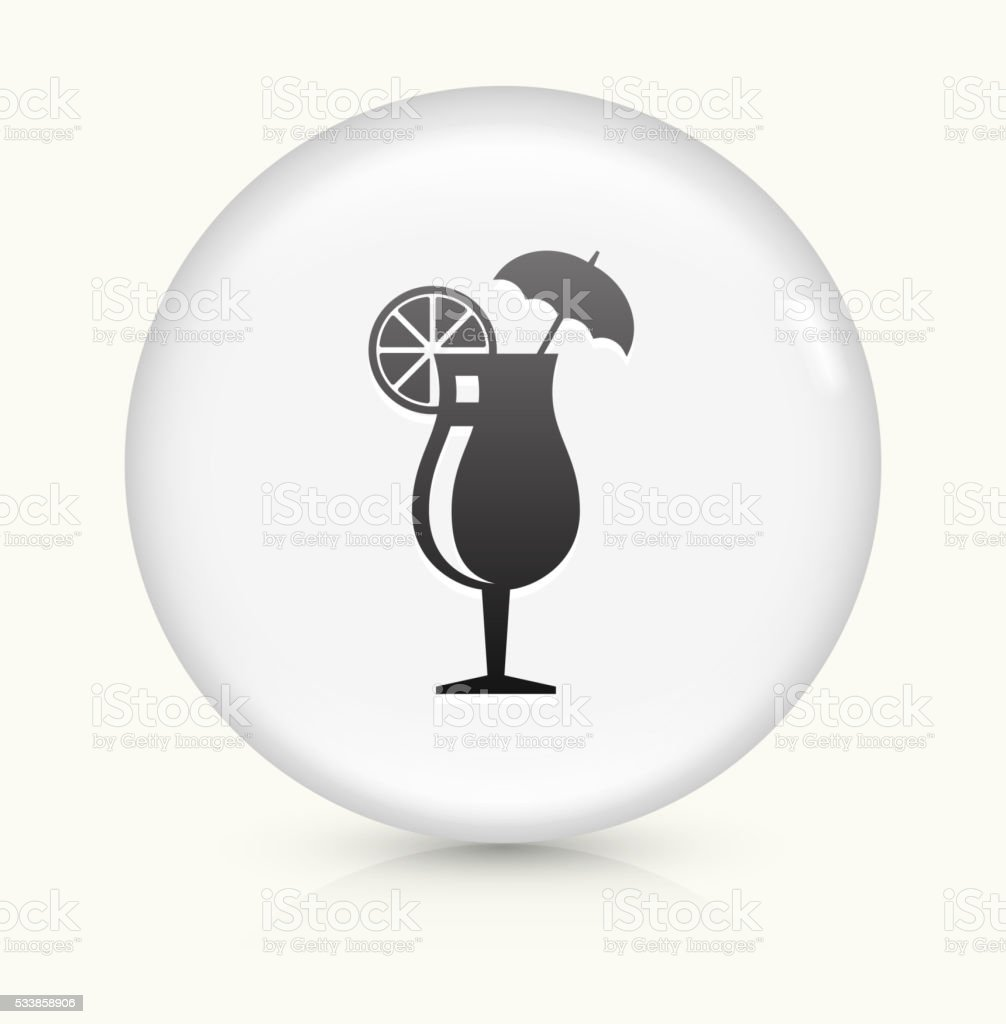 Cocktail Glass icon on white round vector button vector art illustration