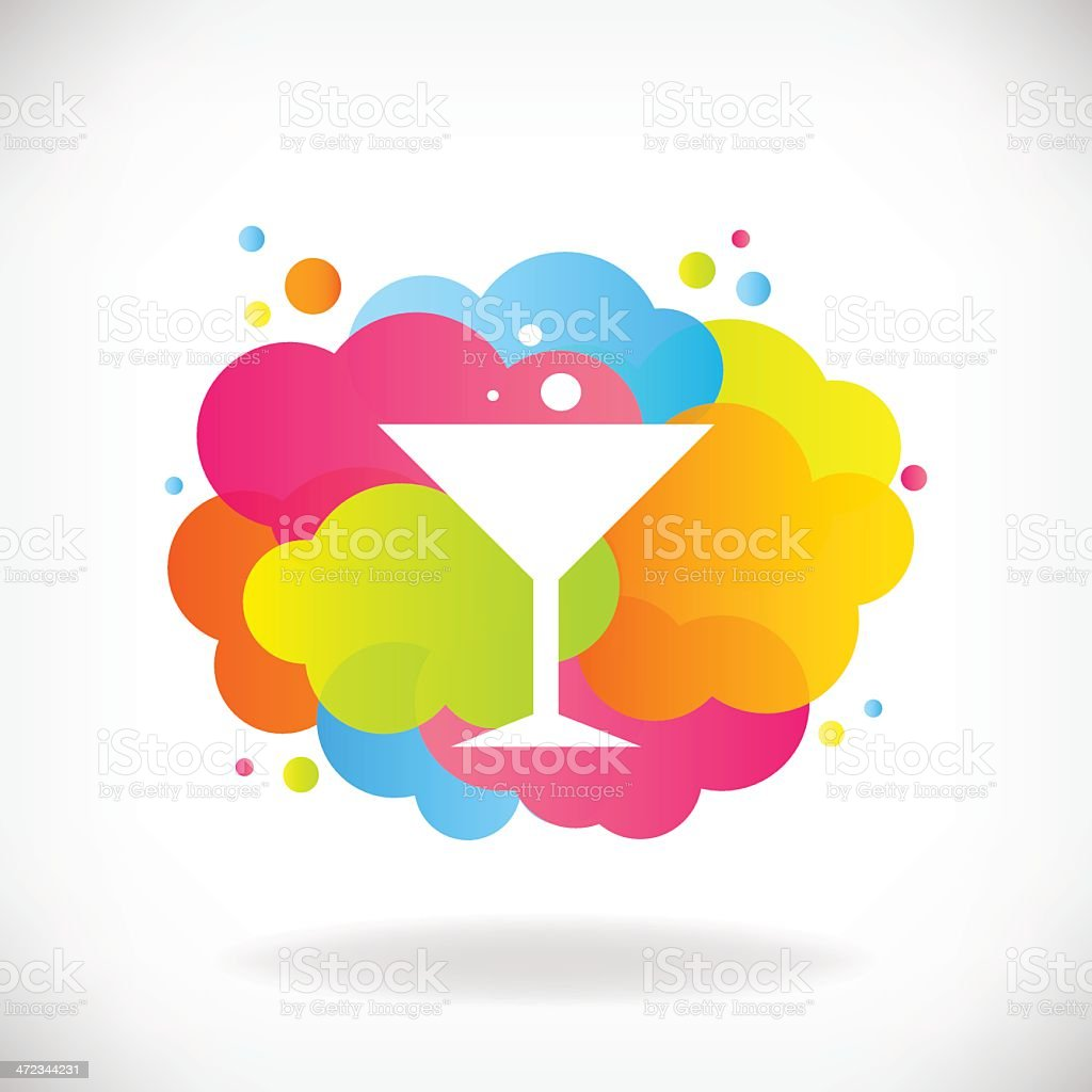 Cocktail glass with transparent clouds. royalty-free stock vector art