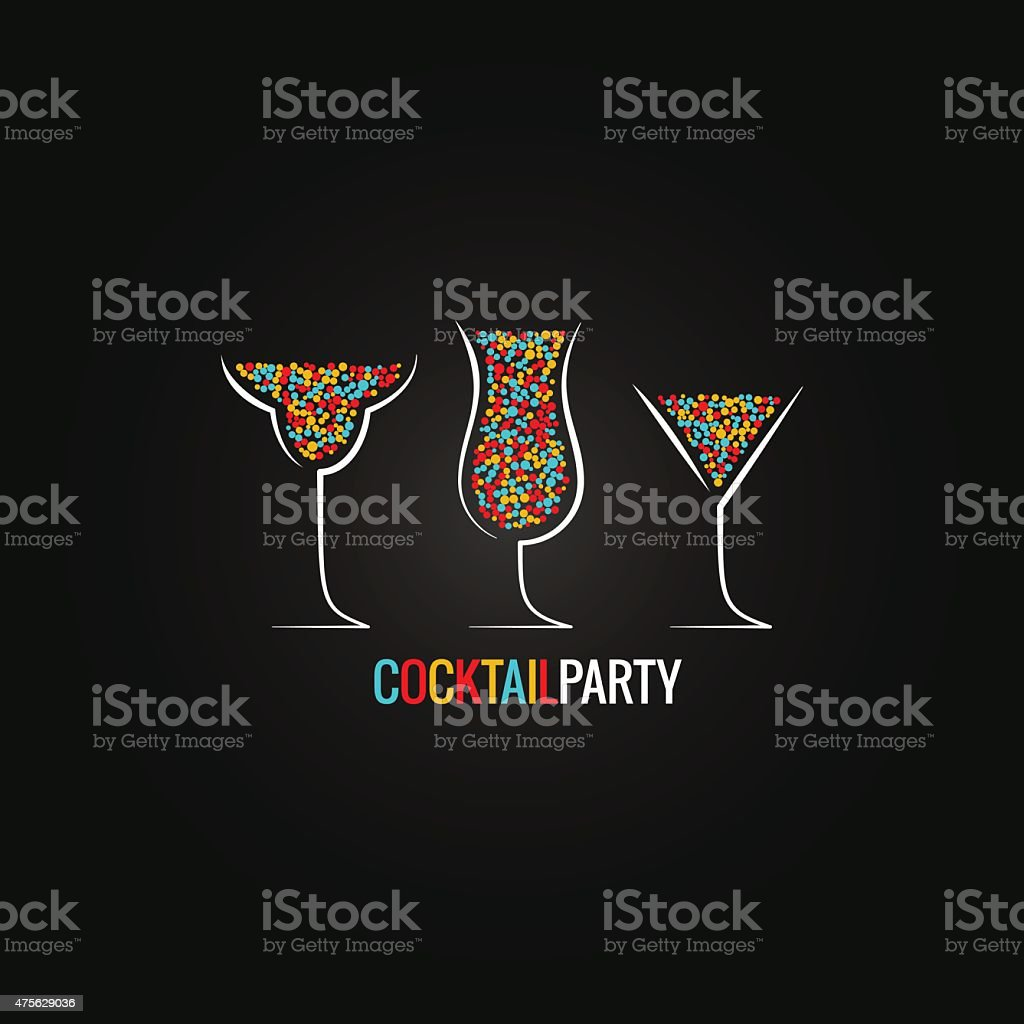 cocktail party design background vector art illustration