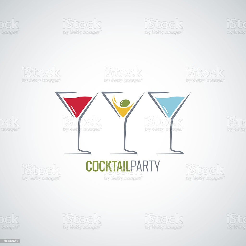 cocktail party glass menu background vector art illustration