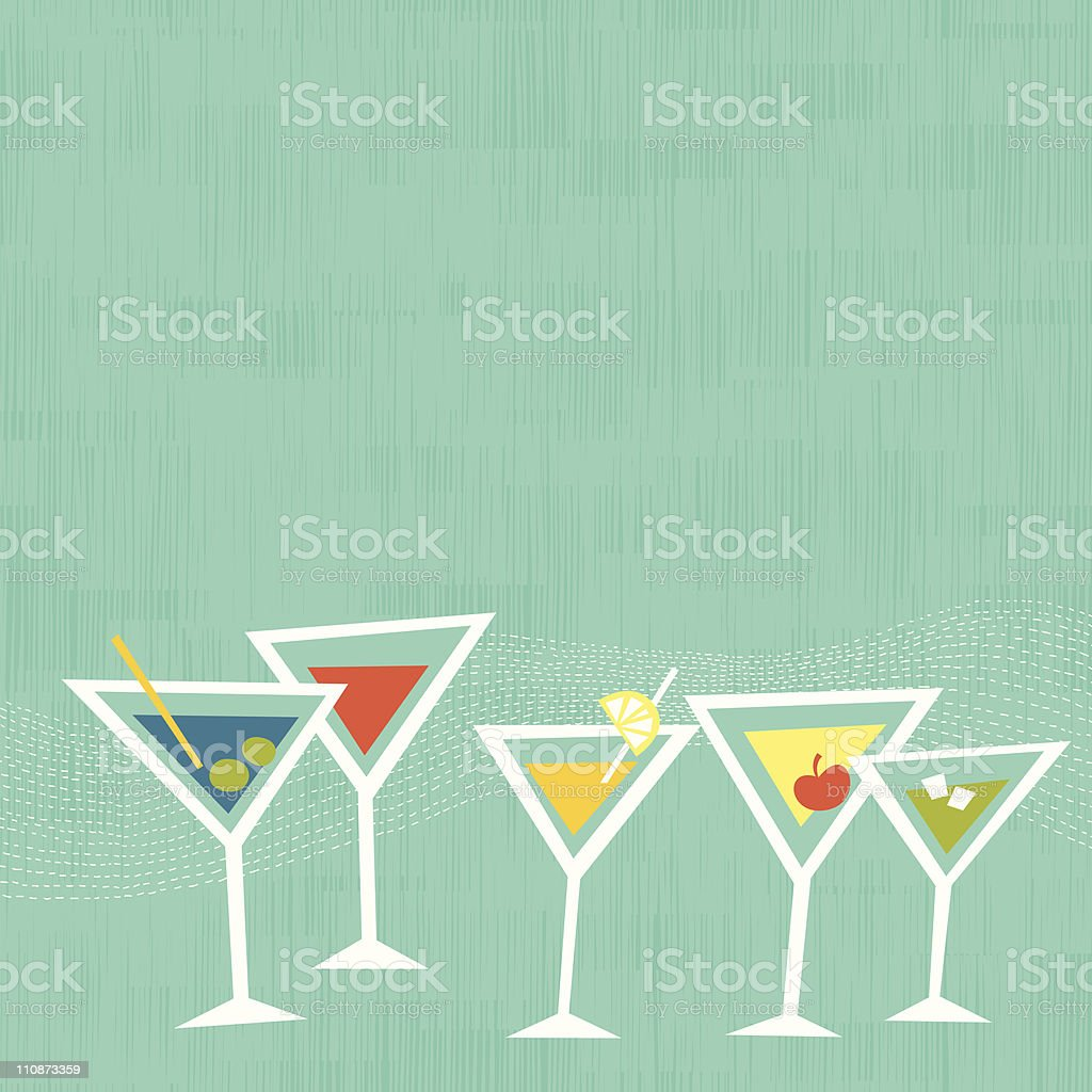 Cocktail Party vector art illustration