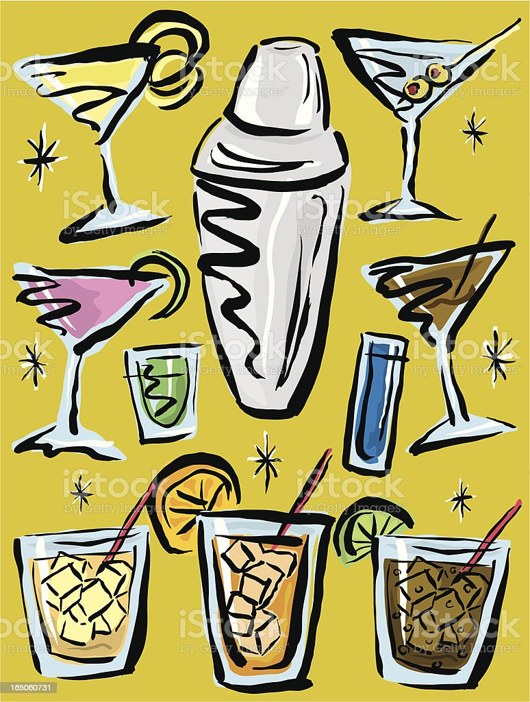Cocktail Party royalty-free stock vector art