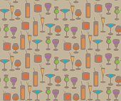 cocktail repeating pattern vector illustration