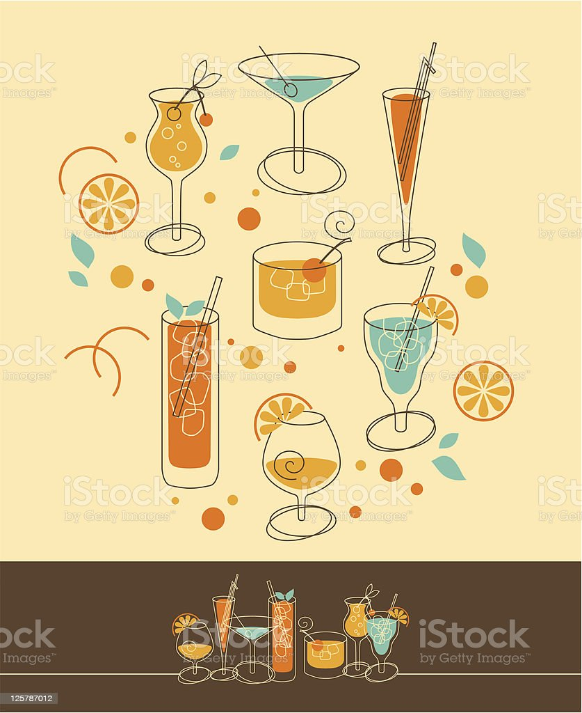 Cocktail Set royalty-free stock vector art