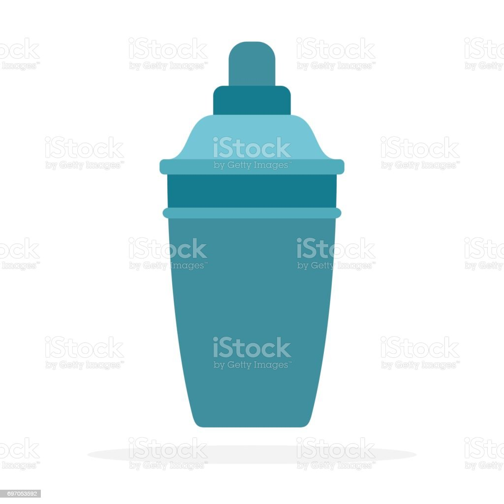 cocktail shaker vector flat material design isolated object on