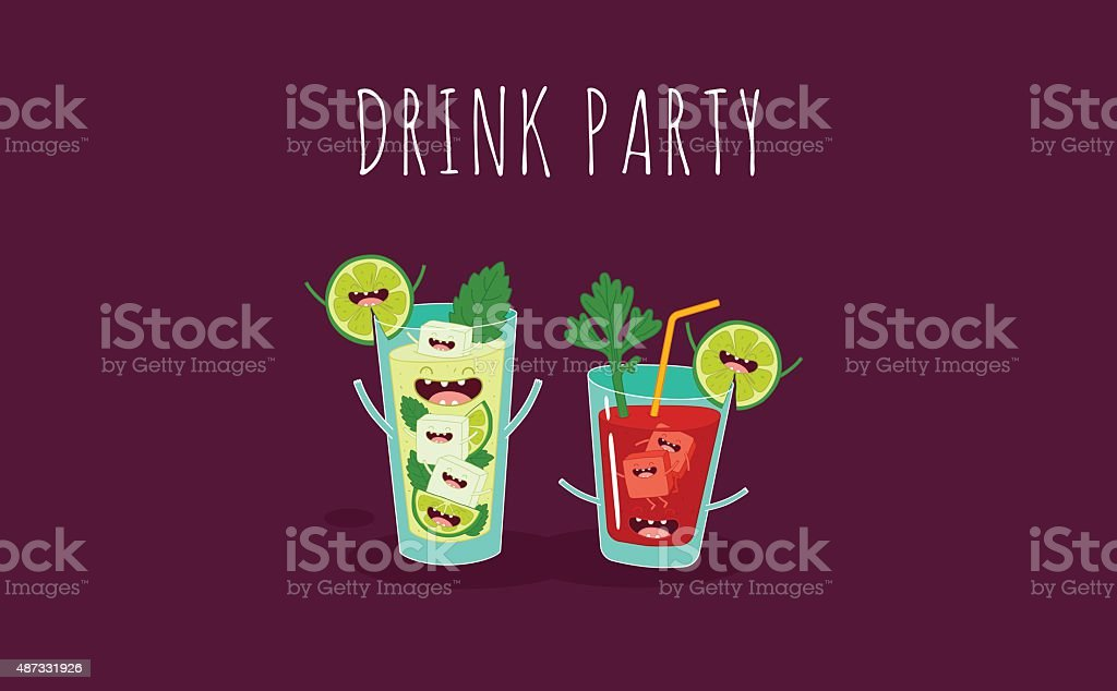 cocktail vector art illustration