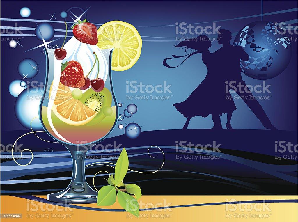 Cocktail vector art illustration