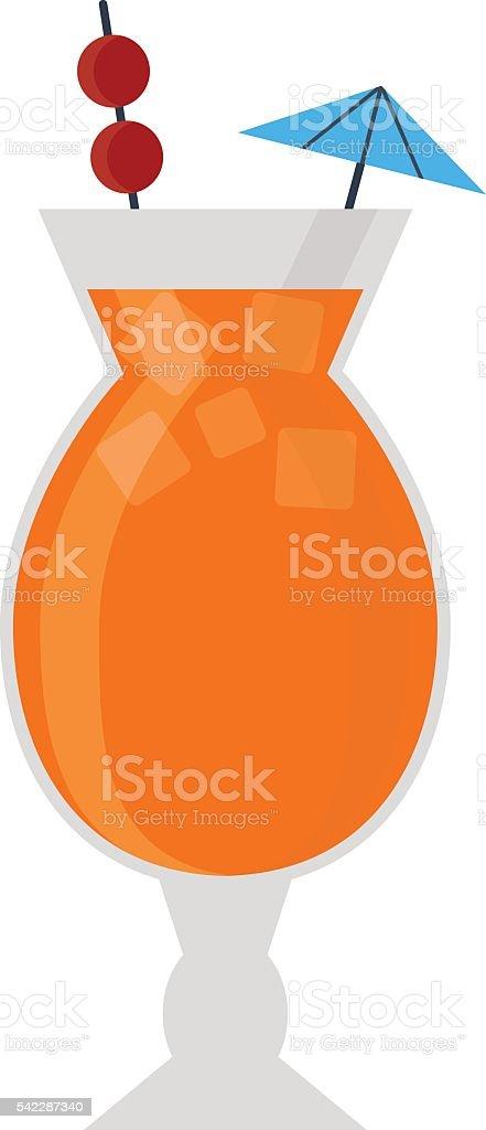 Cocktail vector illustration. vector art illustration