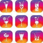 Cocktails apps icons