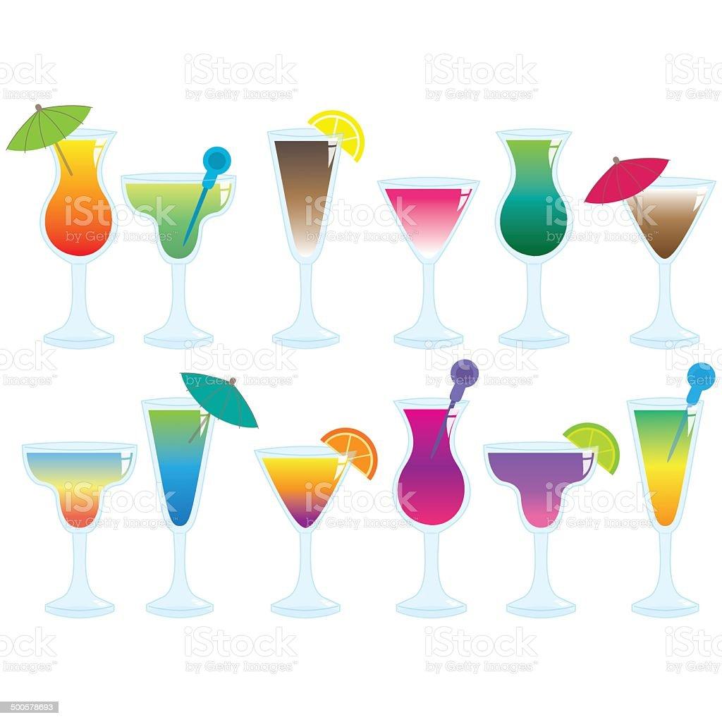 Cocktails Illustrations vector art illustration