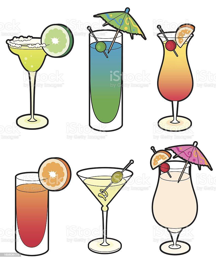 Cocktails vector art illustration