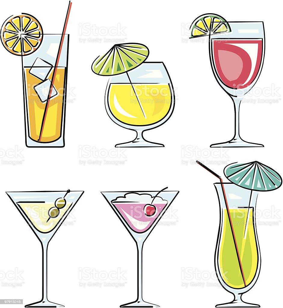 Cocktails vector illustration vector art illustration