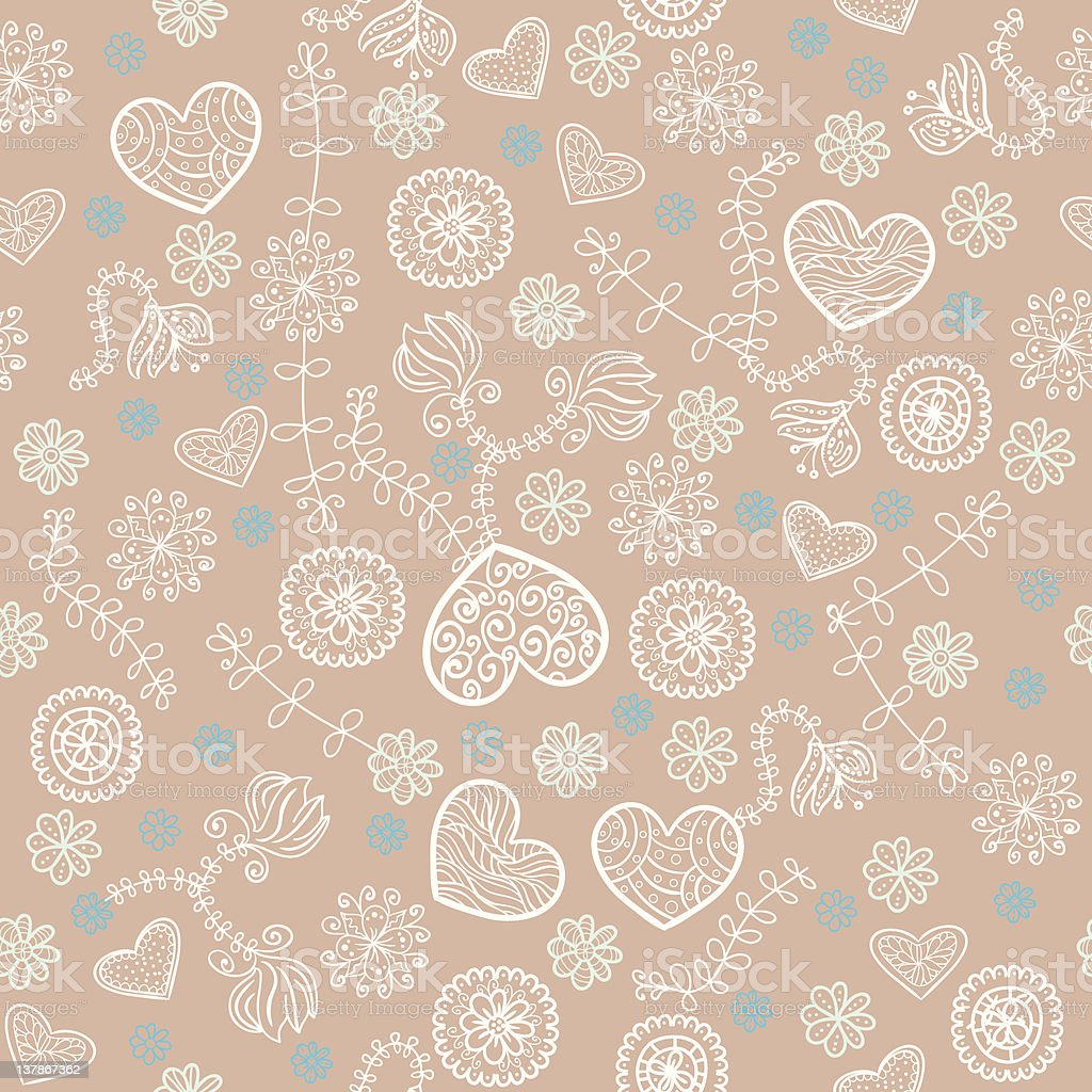 Cocoa marshmallow and mint seamless pattern royalty-free stock vector art