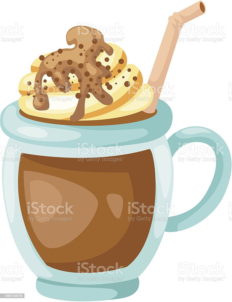 Cocoa with whipped cream cup royalty-free stock photo