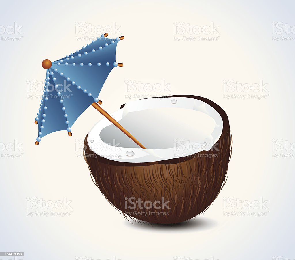 Coconut Cocktail royalty-free stock vector art