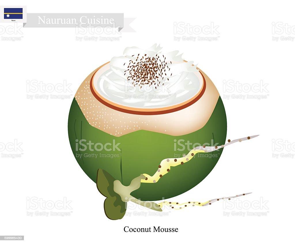 Coconut Mousse, A Popular Dessert in Tuvalu vector art illustration