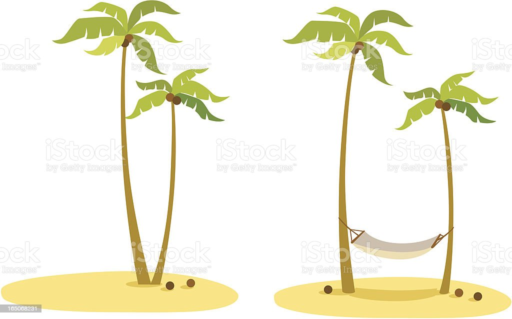 coconut palm tree vacation on an island royalty-free stock vector art