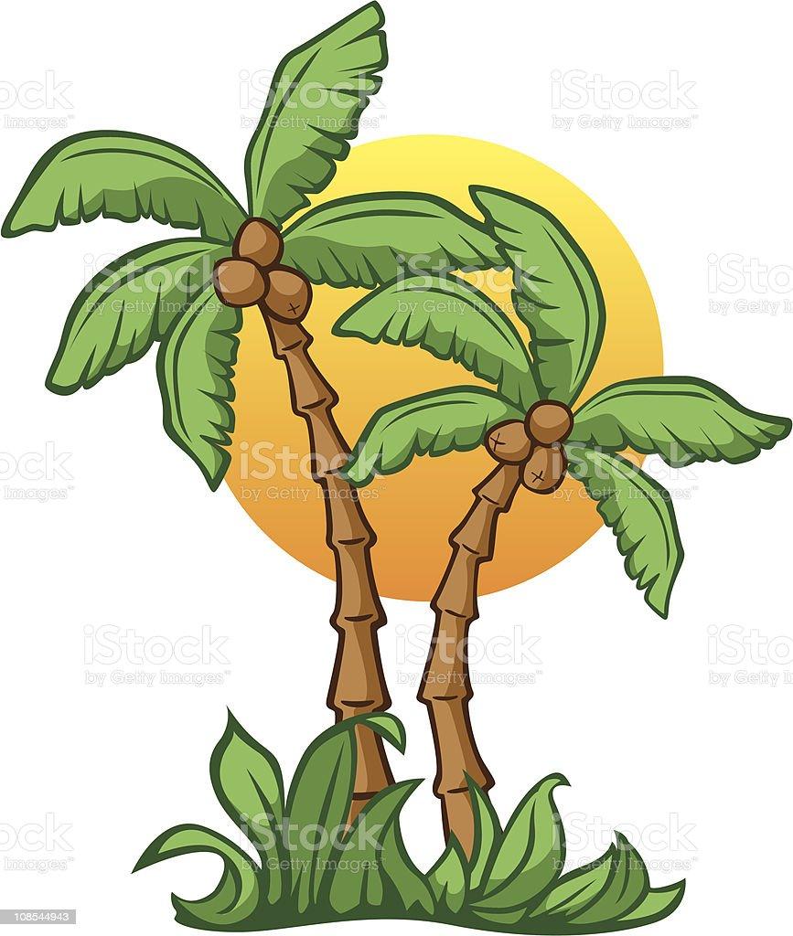 Coconut Sunrise royalty-free stock vector art