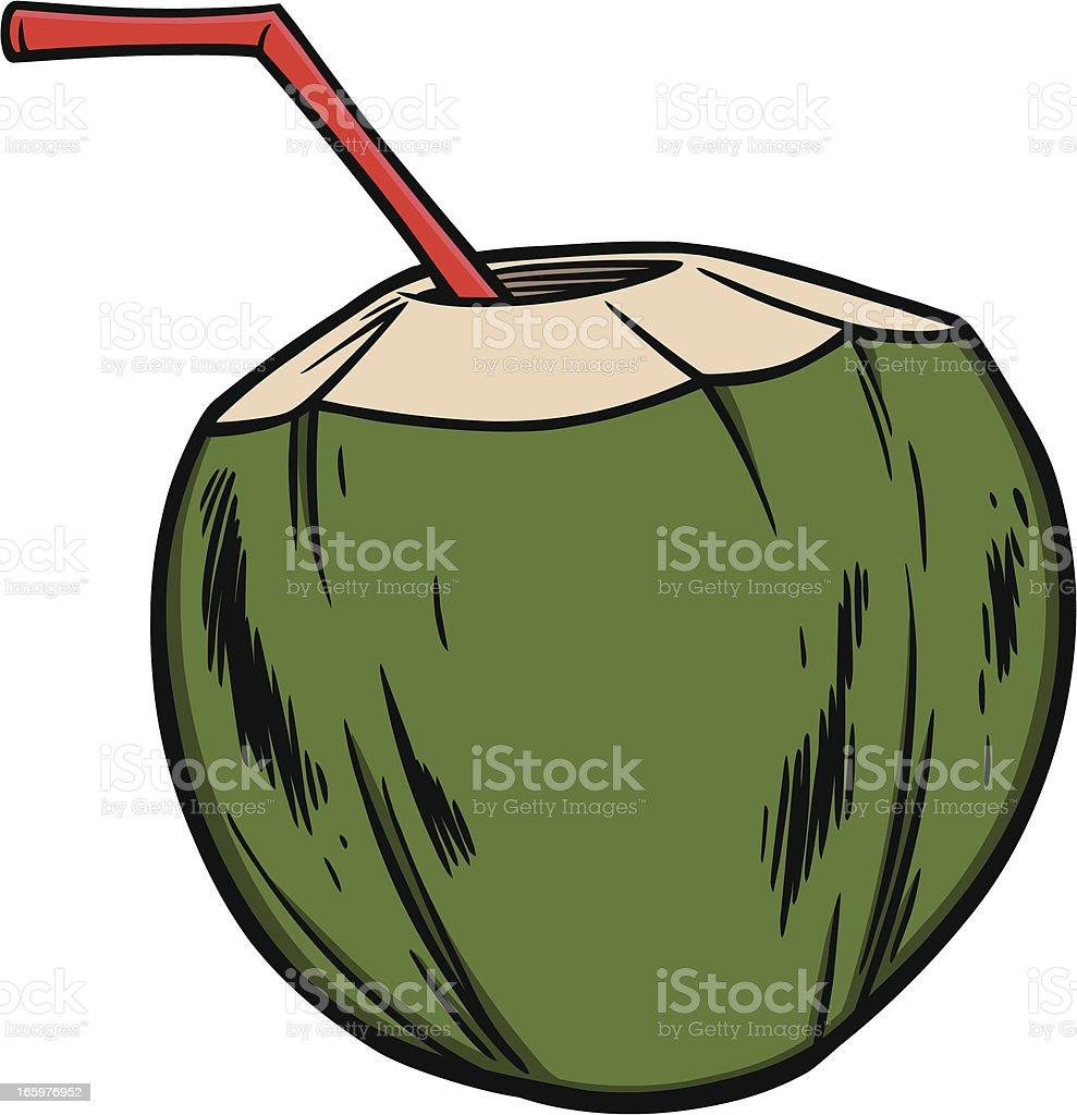 Coconut Water royalty-free stock vector art