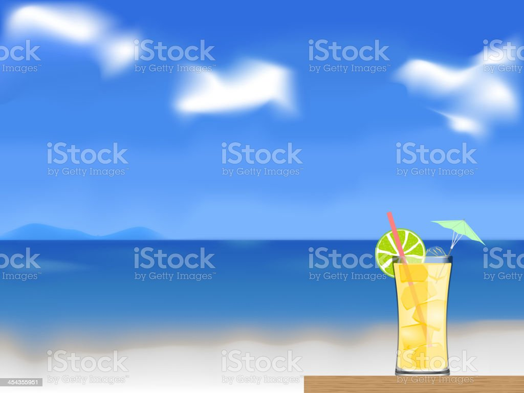coctail on the beach vector royalty-free stock vector art