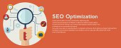 Code and SEO optimization . Innovation and technologies. Mobile app