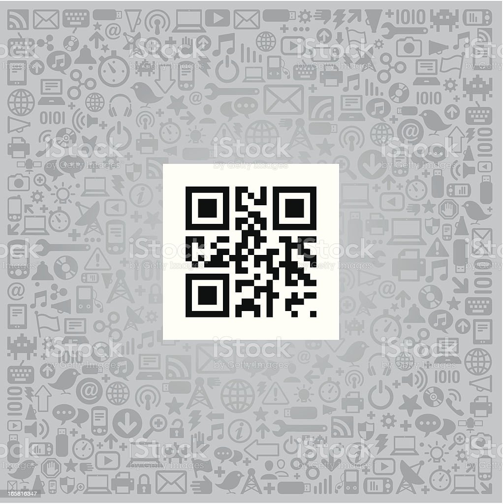 QR Code Concept royalty-free stock vector art